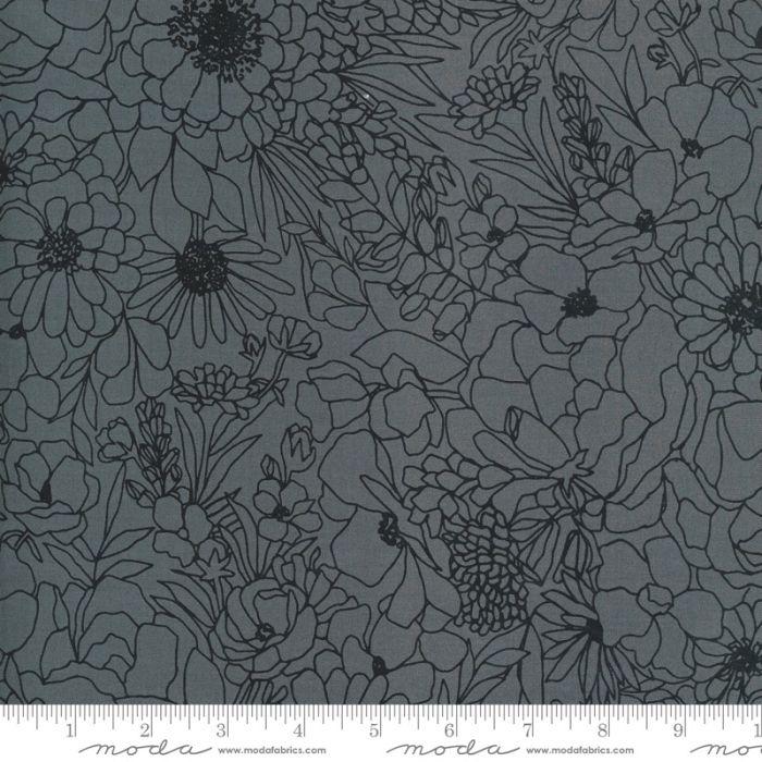 Moda Fabrics Illustrations Modern Florals grafit