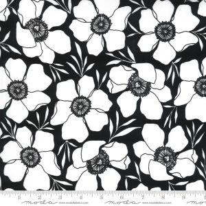 Moda Fabrics Illustrations Moody Florals schwarz