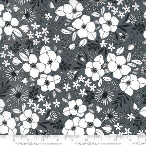 Moda Fabrics Illustrations Wild Florals grafit