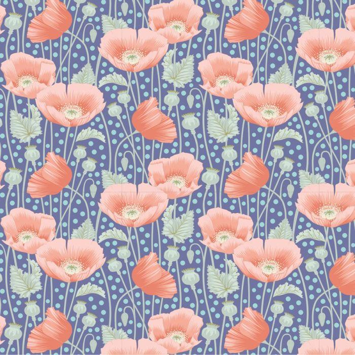 Tilda Poppies dunkelblau