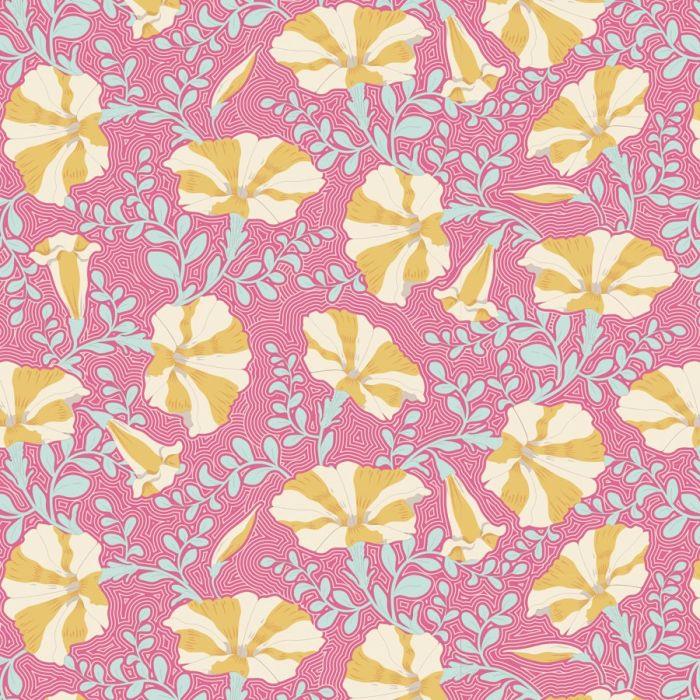 Tilda Stoff Striped Petunia pink