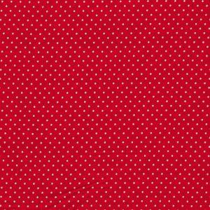Stoff Judith rot mit kleinen weißen Punkten