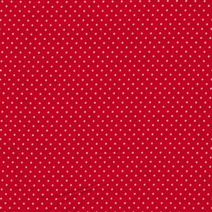Stoff rot mit kleinen Punkten