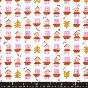 Moda Fabrics Tarry Town Little Houses cream