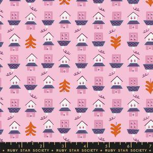 Moda Fabrics Tarry Town Little Houses Orchid
