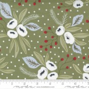Moda Fabrics Christmas Morning Snow Blossoms Pine