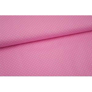 Stoff Judith rosa mit kleinen weißen Punkten