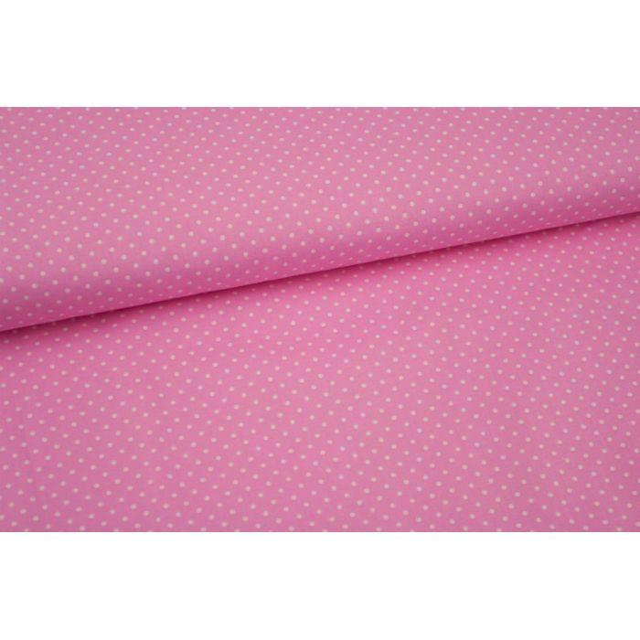 Stoff rosa mit kleinen weißen Punkten