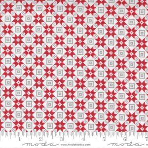 Moda Fabrics Christmas Morning Bright Star Quilt Block Snow