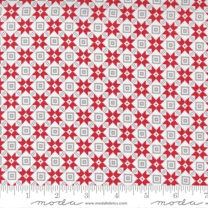 Moda Fabrics Christmas Bright Star Quilt Block Snow