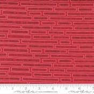 Moda Fabrics Christmas Morning Fa La La Text Cranberry