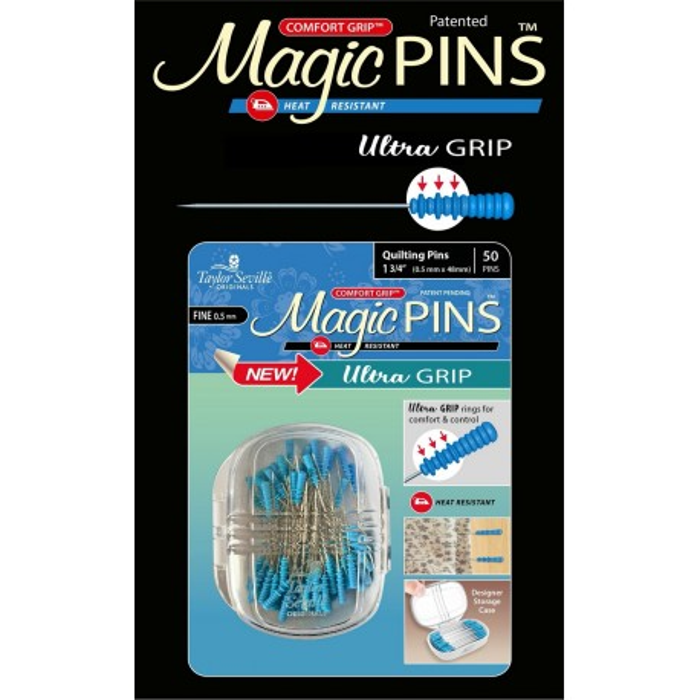 Taylor Seville Magic Pins Stecknadeln Ultra Grip Quilting fein
