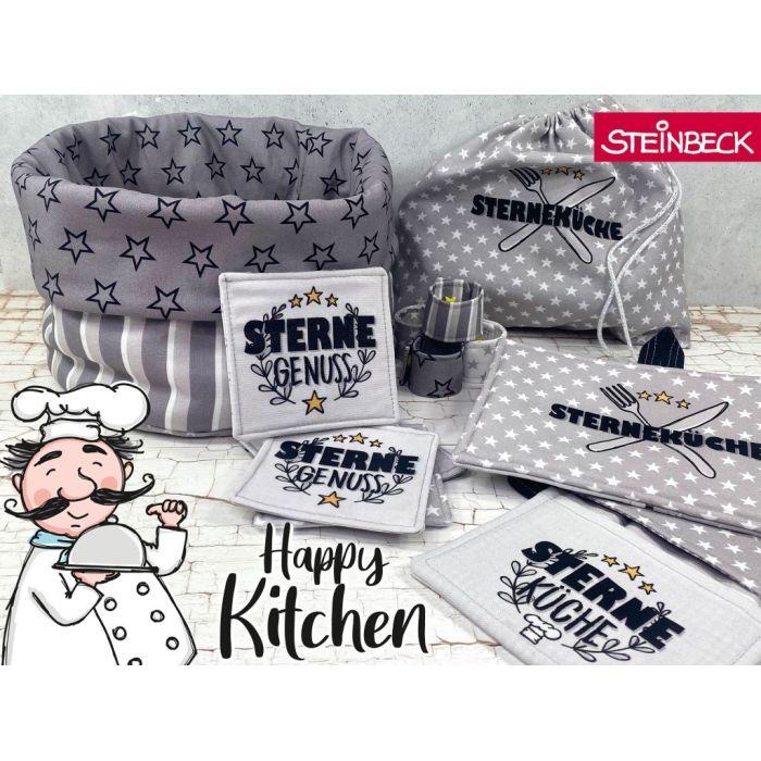 Swafing Panel Nähset Happy Kitchen by Steinbeck grau und beige