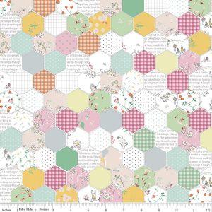 Riley Blake Hidden Cottage Hexagon Pink