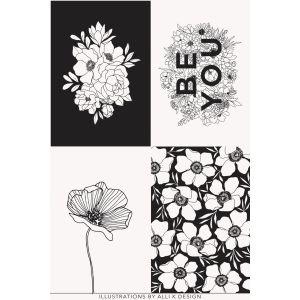Moda Fabrics Illustrations Stoffpanel