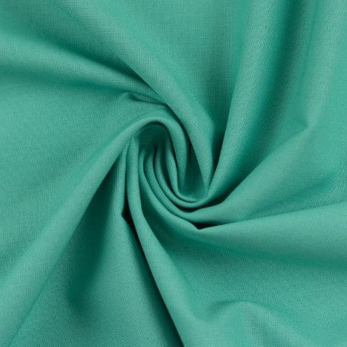 Swafing Baumwollstoff Heide Uni smaragd