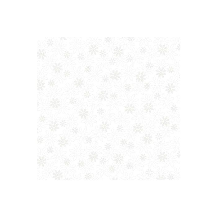 QT Stoff Illusions Stencil Floral weiß