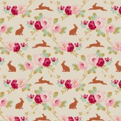 Tilda Stoff Rabbit and Roses creme