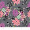 Camelot Fabrics Georgeous Florals grau